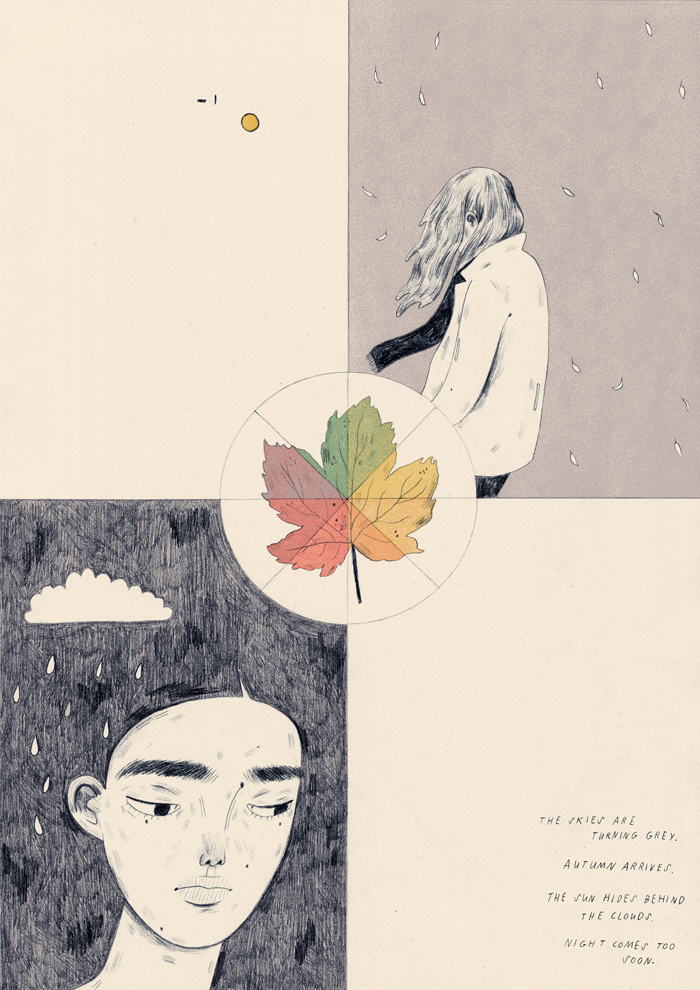 Manjit Thapp (FdA Illustration) - Illustrating Seasonal Affective Disorder