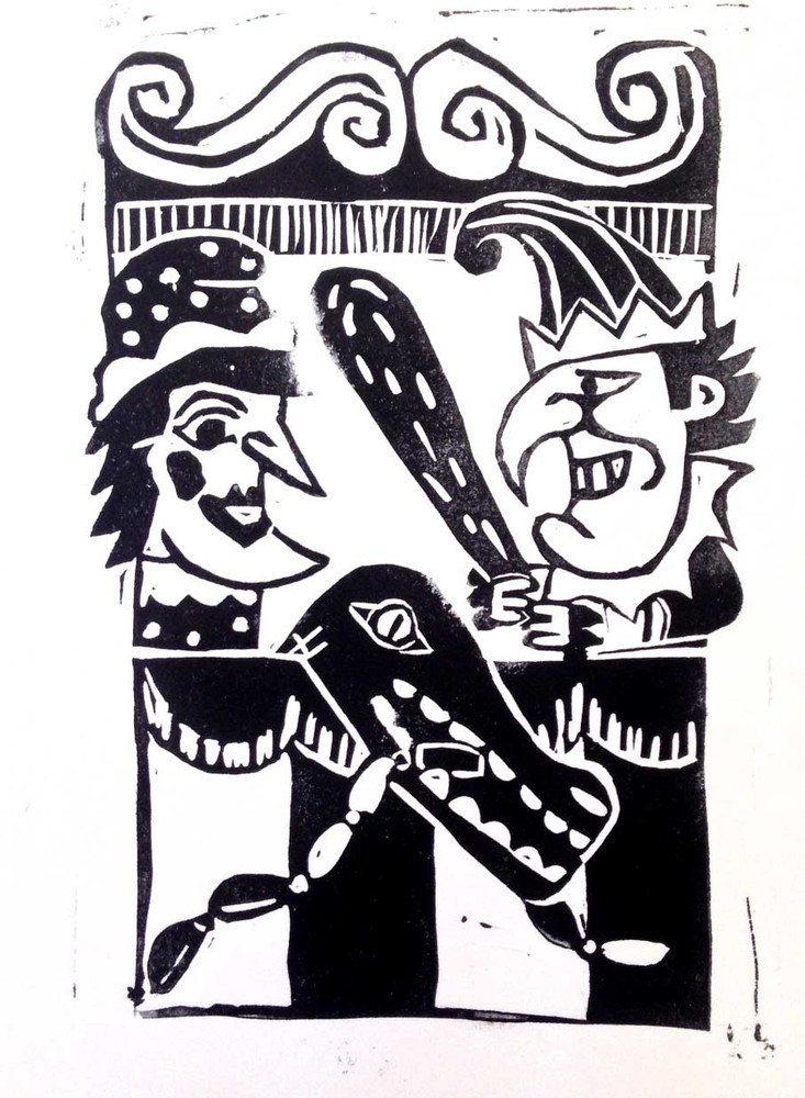 Punch & Judy Lincocut from the Print Wagon