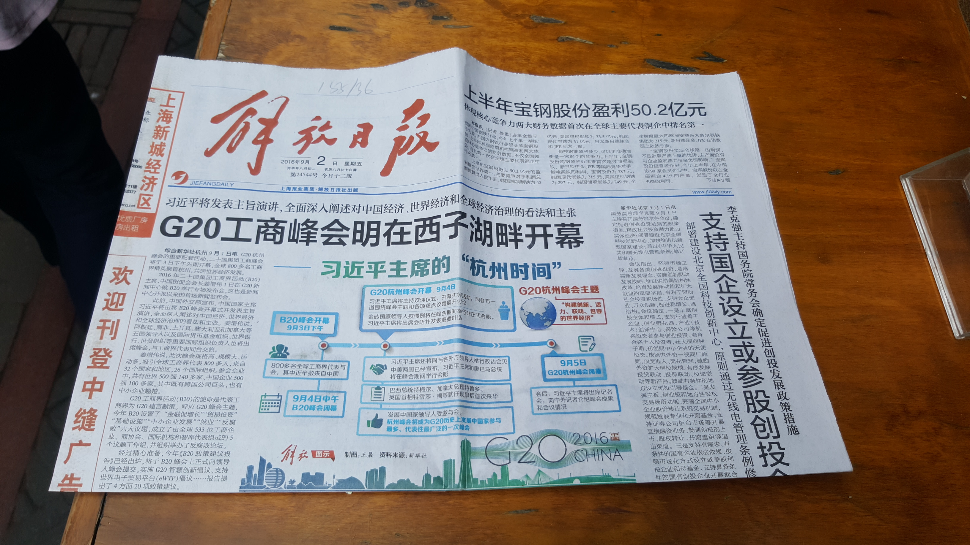 'Tianzifang' - Chinese Newspaper, photo by Tash Leviton