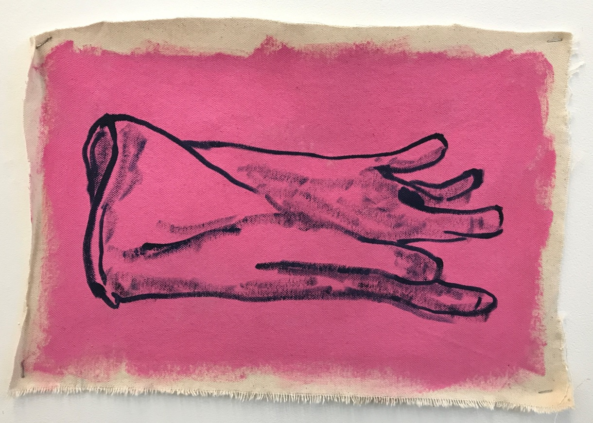 Henry Glover - 'Pink Glove' : (Oil and acrylic on canvas)