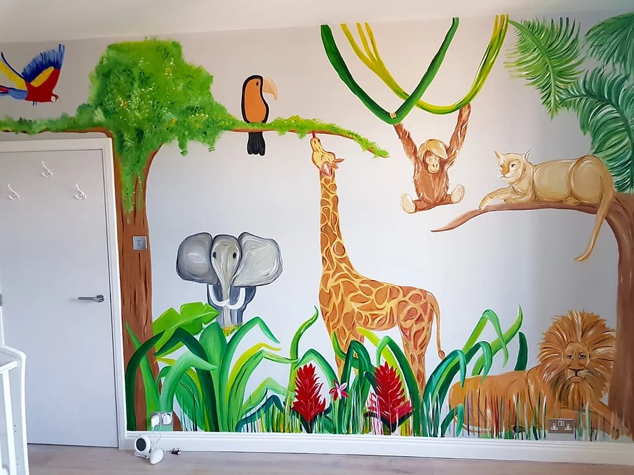 Ciara's jungle themed mural for a child's bedroom