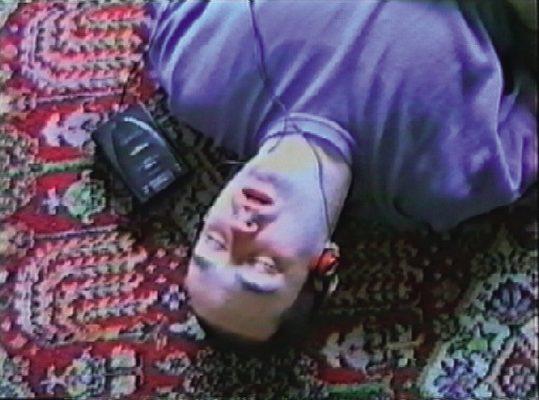 Film still from Douglas Gordon Sings the Best of Lou Reed & The Velvet Underground (for Bas Jan Ader), 1993