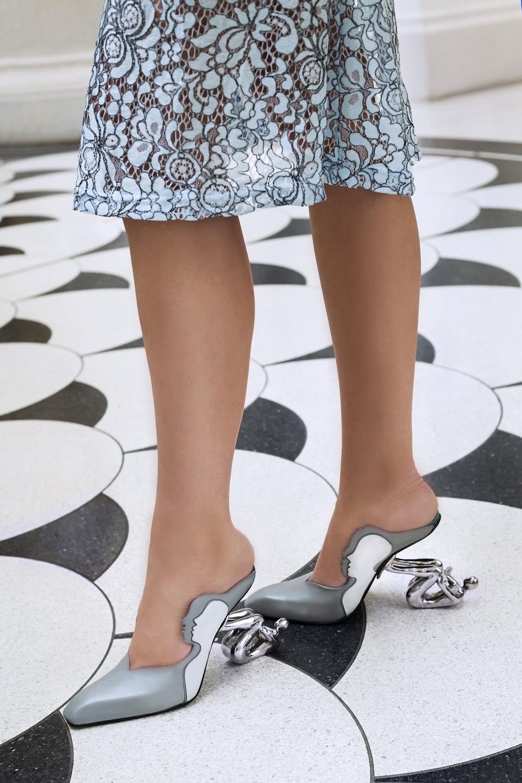 Cordwainers Footwear graduate Tara Hughes, featuring photography by Florence T Hill, makeup by Sammie Sperring, and model Aurelija Jancijuk.