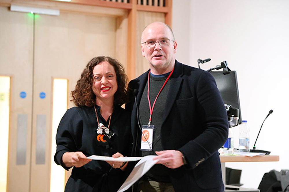 Bethan Alexander with Deputy Vice-Chancellor Simon Ofield-Kerr.