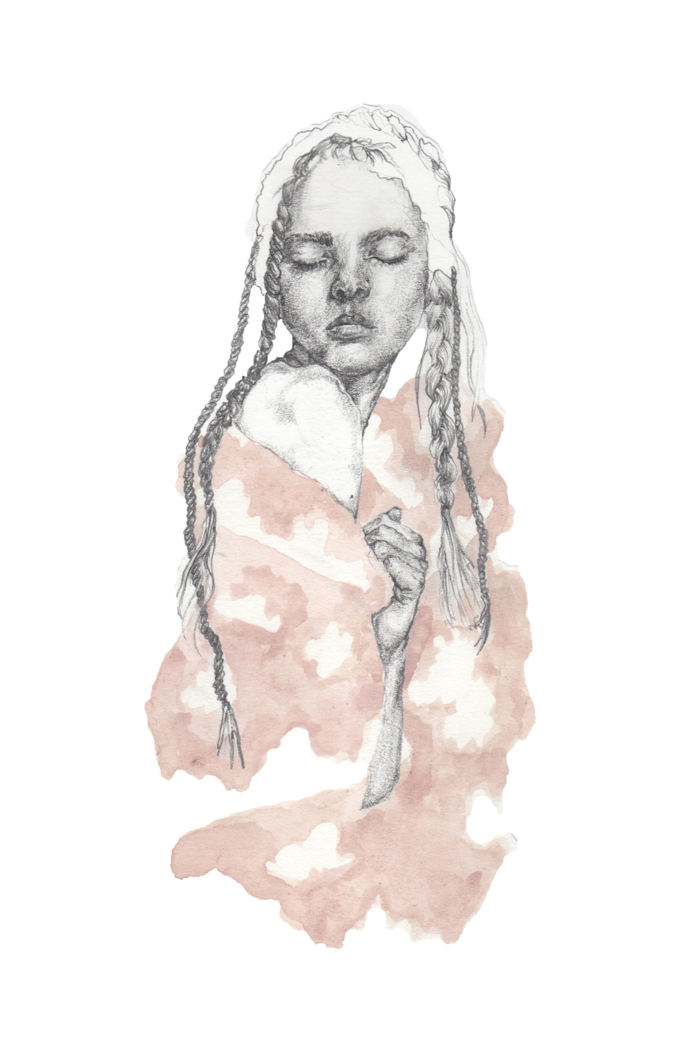 Pink Skies and Fluffy Clouds {Simone Rocha SS16} by Fashion Illustration graduate Nina Miles Hilpern.