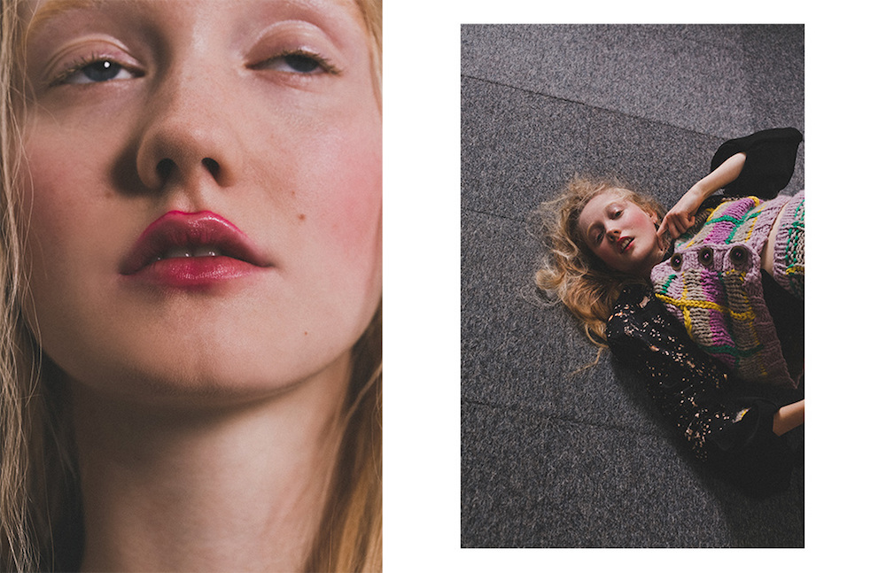 LCF alumna and Make-up Artist Crystabel Riley. Photography by Nadia Ryder.