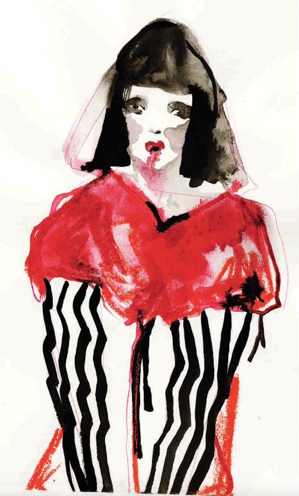 BA (Hons) Fashion Illustration graduate Holly Jade Farmer for LCFBA17.