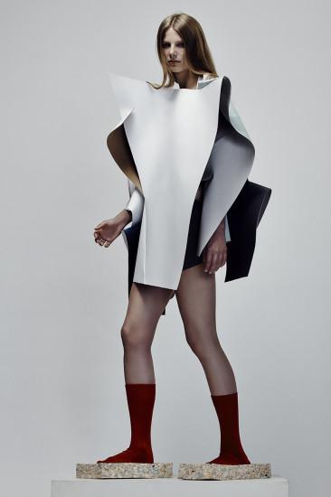 Image credit: Chun Yin Mok, BA (Hons) Fashion Design Technology: Womenswear. Photographer: James Rees , Creative Direction: Rob Phillips, Hair: Ezana Ové, Beauty: Kirsty Gaston