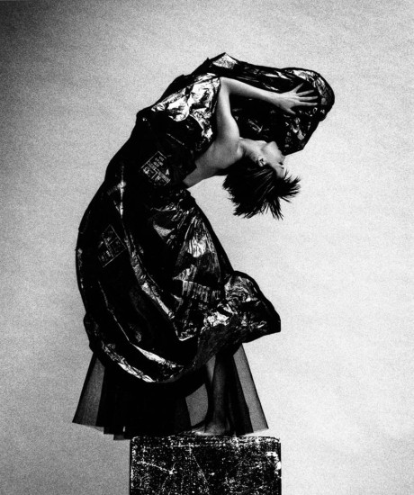 """Rubbish bag ball skirt"" 1990 - shot by Platon"
