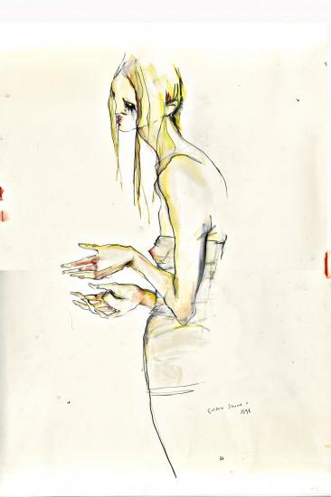 Illustration by Rob Phillips: McQueen, Golden Shower