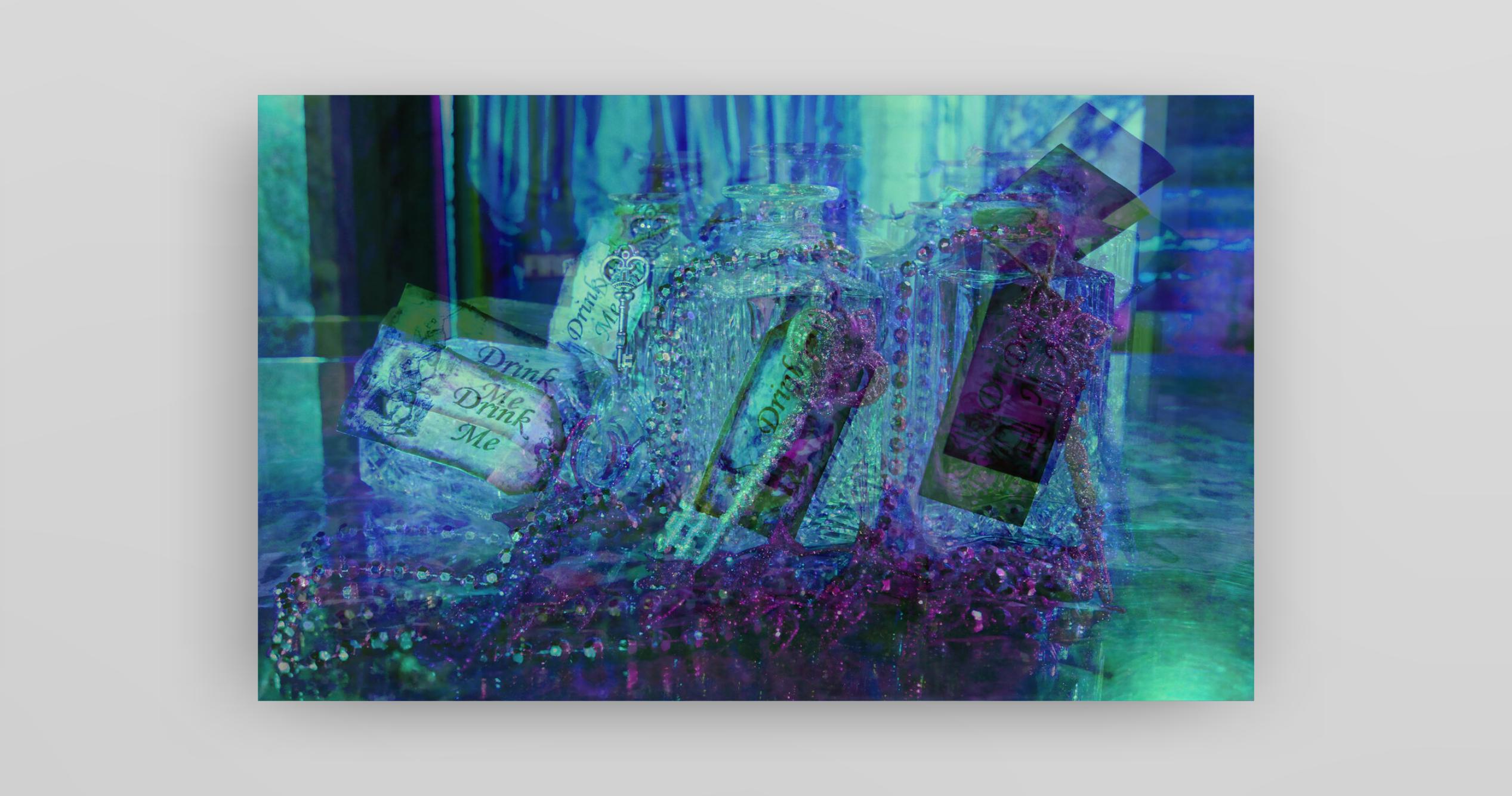 Alice in Wonderland inspired artwork by Dani Hiatt, a student specialising in photography