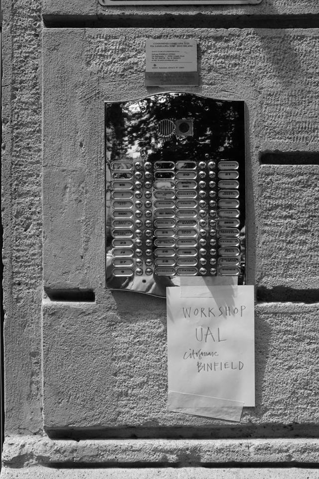 doorbell with note attached