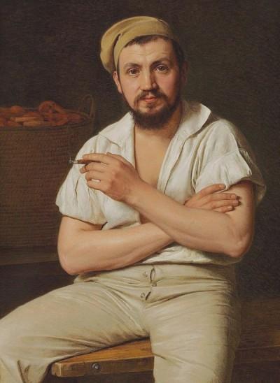 Christen Kobke, 'Portrait of P. Ryder, 1848