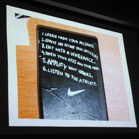 Nike talk to students at LCF