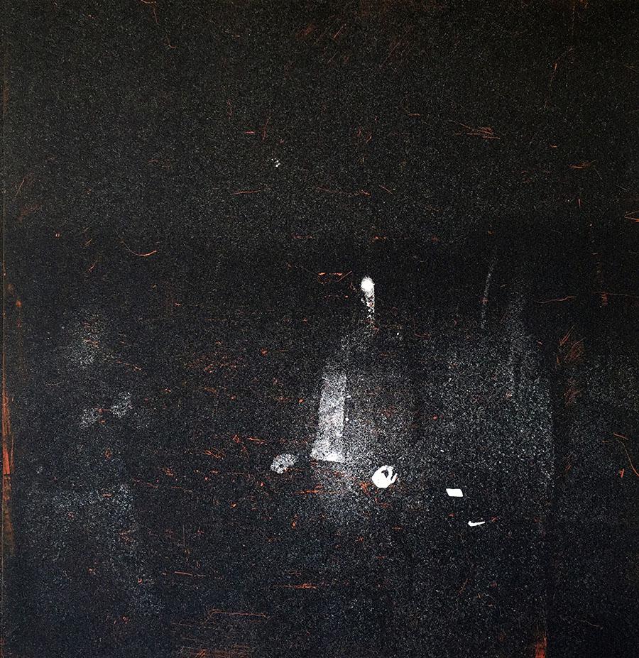 Wandering II - work by Xiaoqiao Li, inkjet print and etching on paper