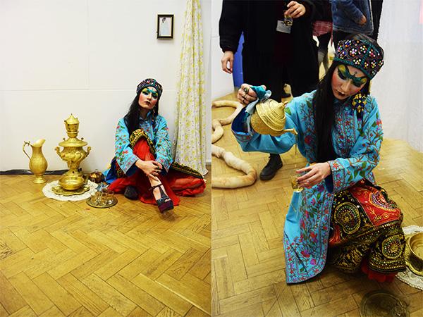 Foundation student Niayesh Fekri during performance