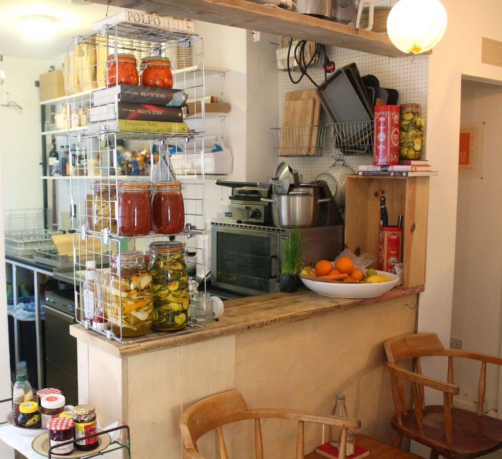 Photograph of the interior of The Pigeon Hole Cafe Camberwell