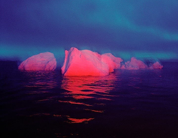 From the series Red Ice-White C type colour photographs on aluminum. Disko Bay, Greenland, 2008-09.