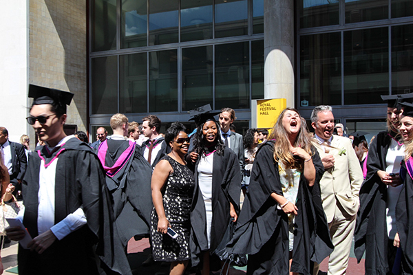 Students from our BA Graphic Design Communication celebrate their graduation.