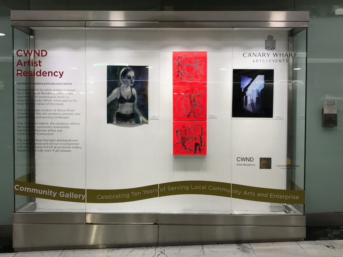 'RSVP' currently showing at the Community Gallery Window in Canary Wharf Shopping Mall