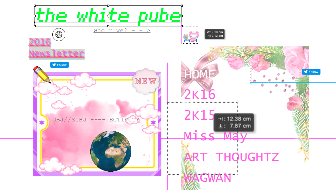 The White Pube homepage