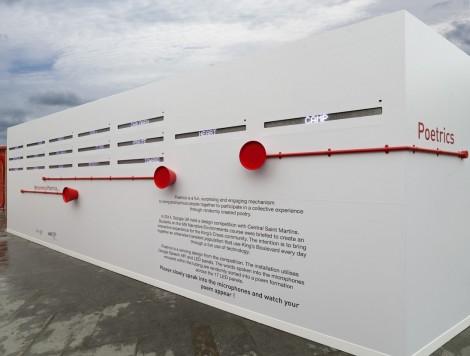 Google Poetrics Installation at Kings Cross