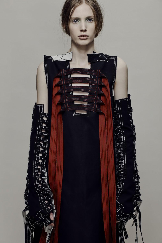 BA (Hons) Fashion Design and Development student Andrew Ko.