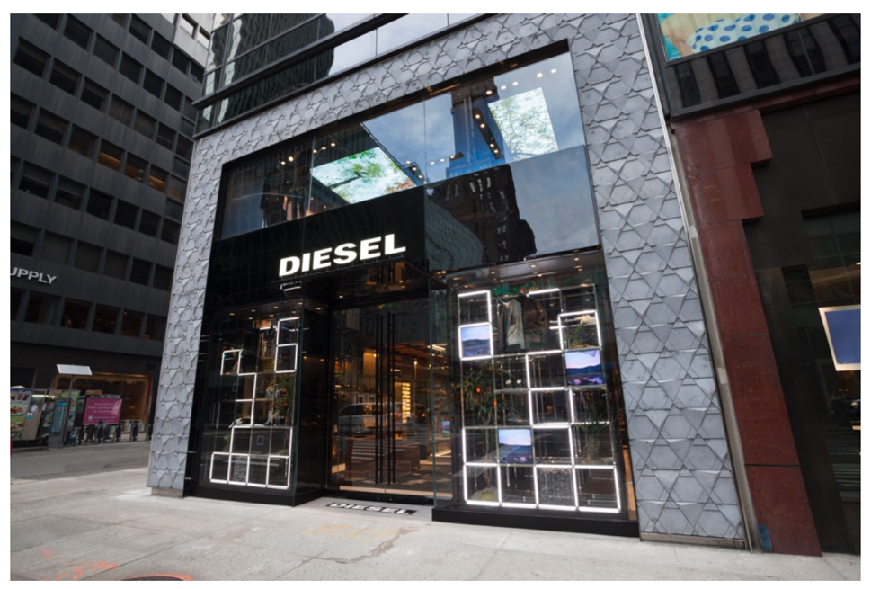 The exterior of the flagship store in Manhattan.