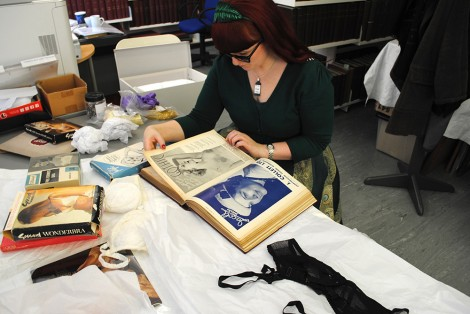 Lorraine Smith and her collection in the LCF archives