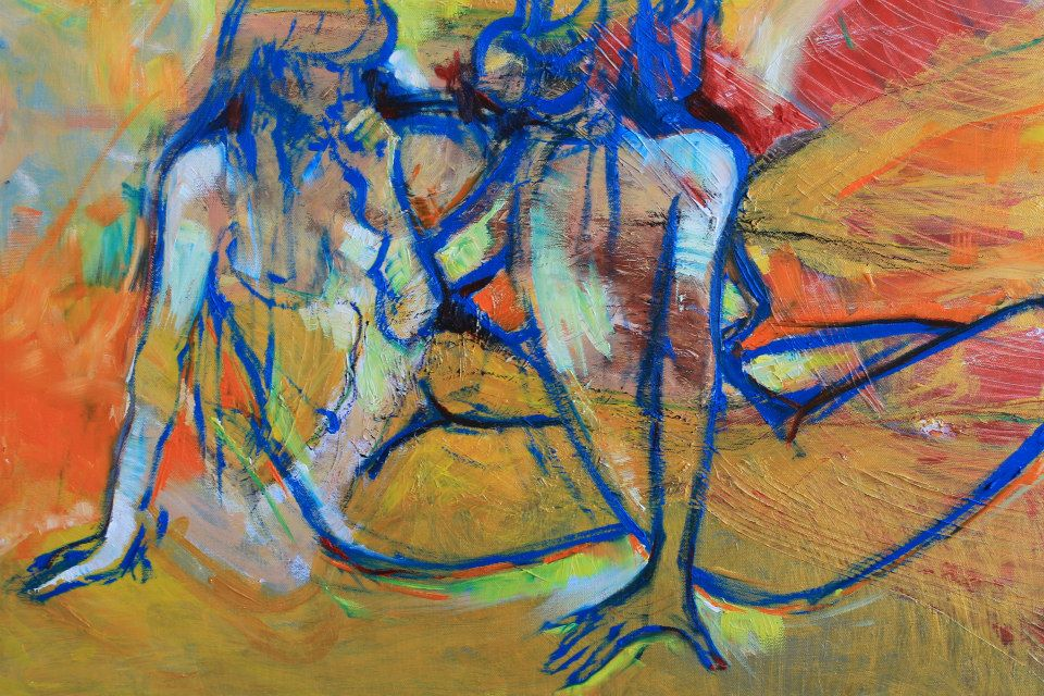 Artwork by Joanna Skurzewska done by paint