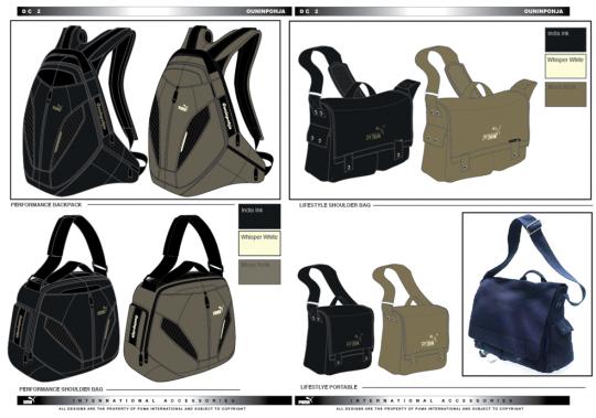 Design work for Puma