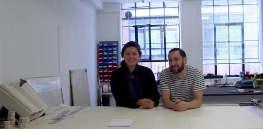 Anna & Mauro in their Bethnal Green studio