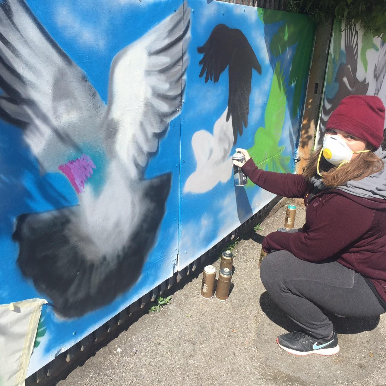 MA Illustration Wix School mural project
