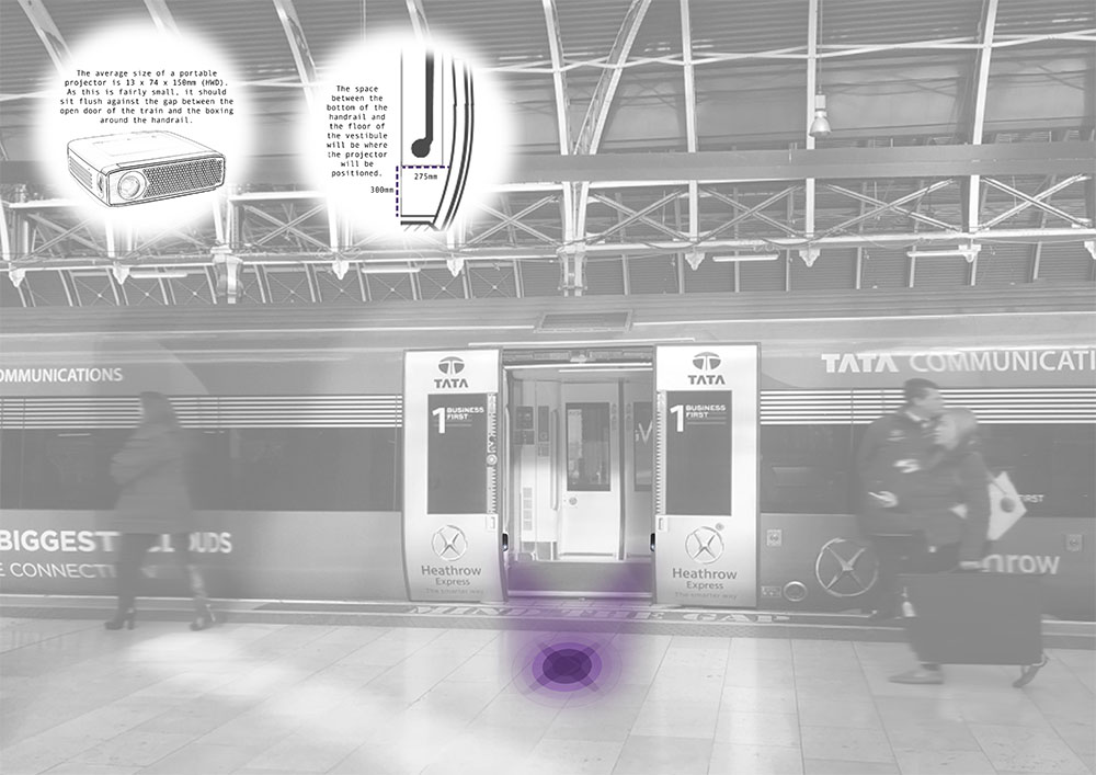 Hayley Wrighton's winning design for the Heathrow Express competition.