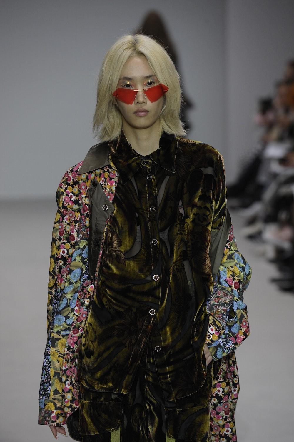 MA Fashion Design Technology Womenswear graduate Feiyi Shuai. Image by Roger Dean.