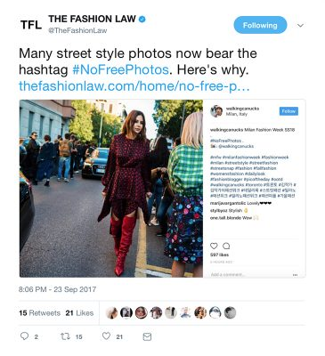 The Fashion Law Twitter