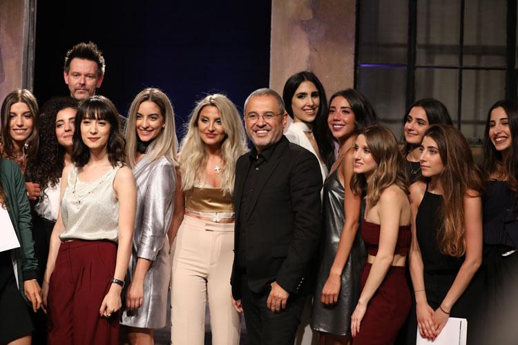 Designer Elie Saab with LAU students