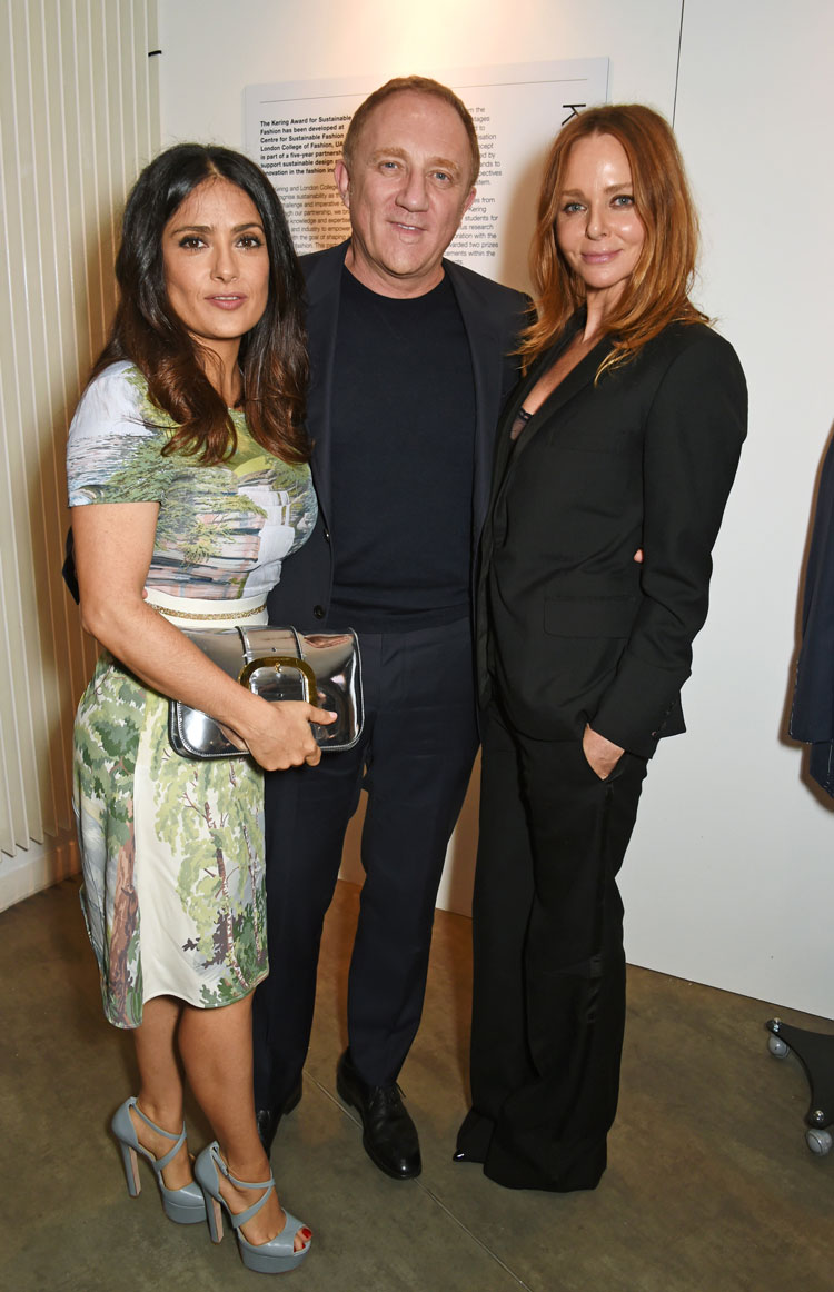 Salma Hayek, Kering Chairman and CEO Francois-Henri Pinault and Stella McCartney. Image: © 2016 Dave Benett
