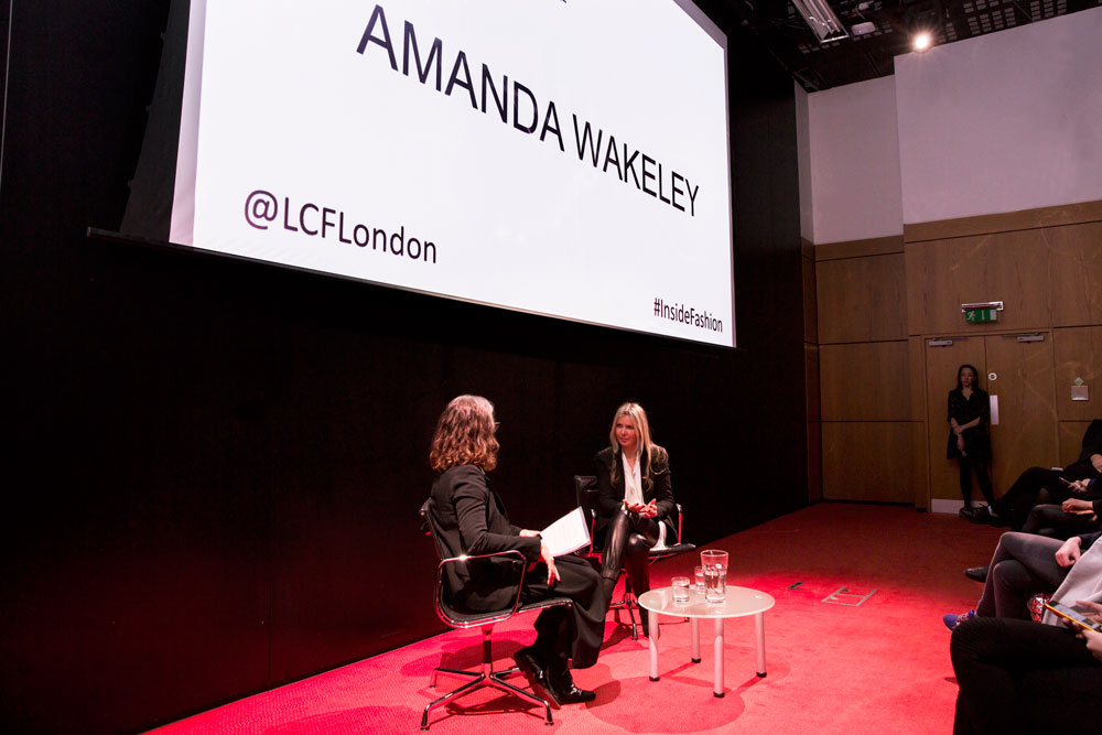 Inside the Industry: Amanda Wakeley and Head of LCF Professor Frances Corner
