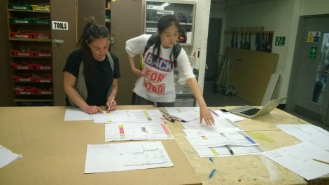 MA Design Management & Cultures students at work.