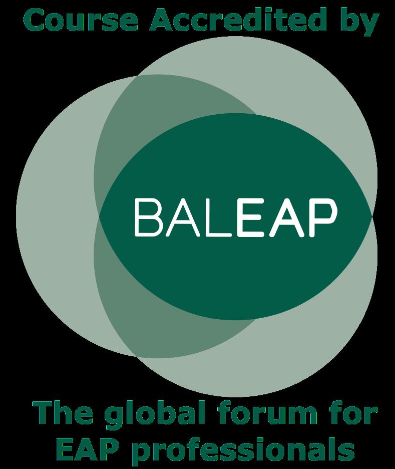 BALEAP course accreditation logo