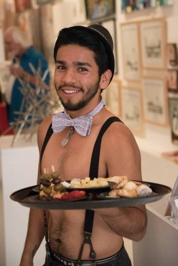LA London Transplants Opening Night - waiter