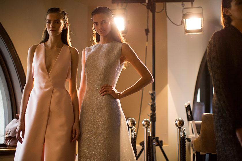 Emilia Wickstead SS15, backstage (© Daniel Sims, British Fashion Council)