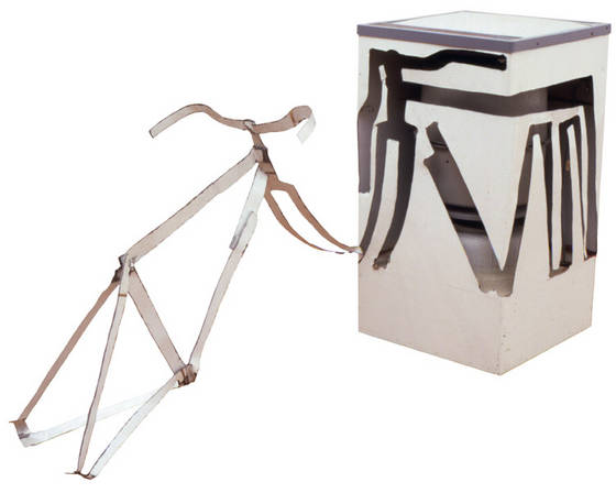 Bill Woodrow RA, 'Spin Dryer with Bicycle Frame Including Handlebars', 1981. Collection of the artist/Photo Edward Woodman.