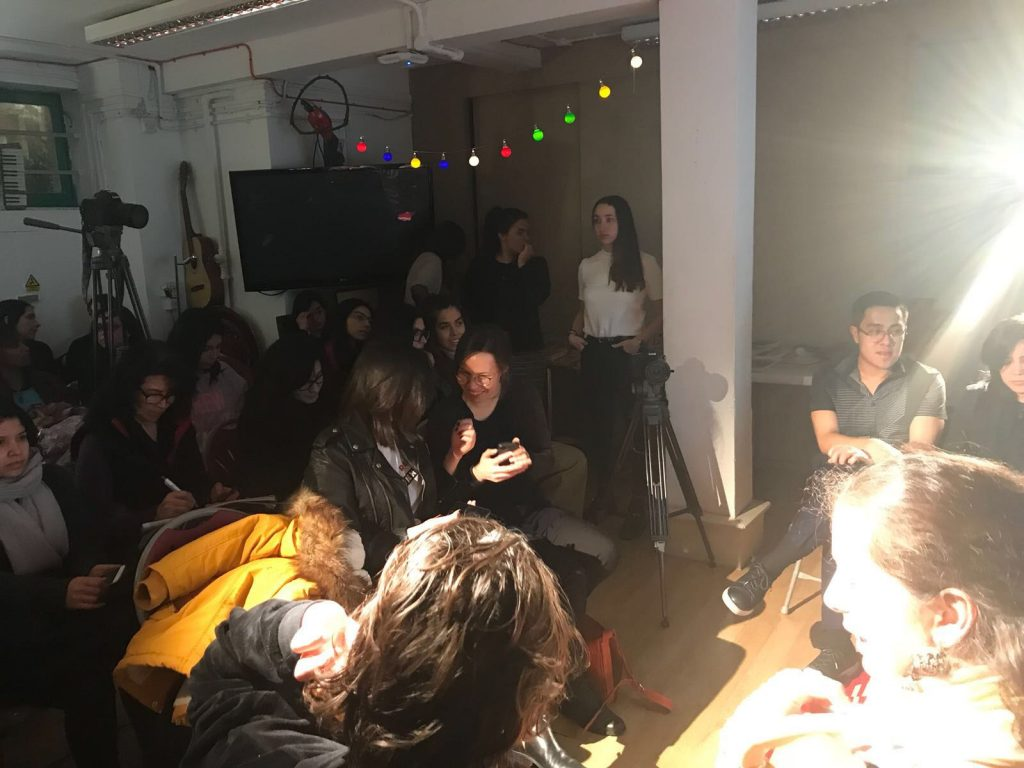 A shot of the audience