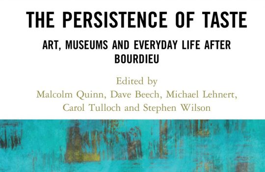 The Persistence of Taste cover text banner