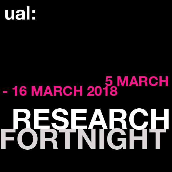 UAL Research Fortnight banner