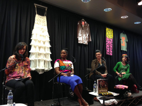 Kate Fletcher of the Centre for Sustainable Fashion speaks at the World of Women festival
