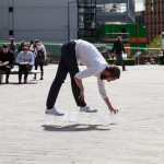 To hand in Granary Square by Siobhan Davies and Matthias Sperling