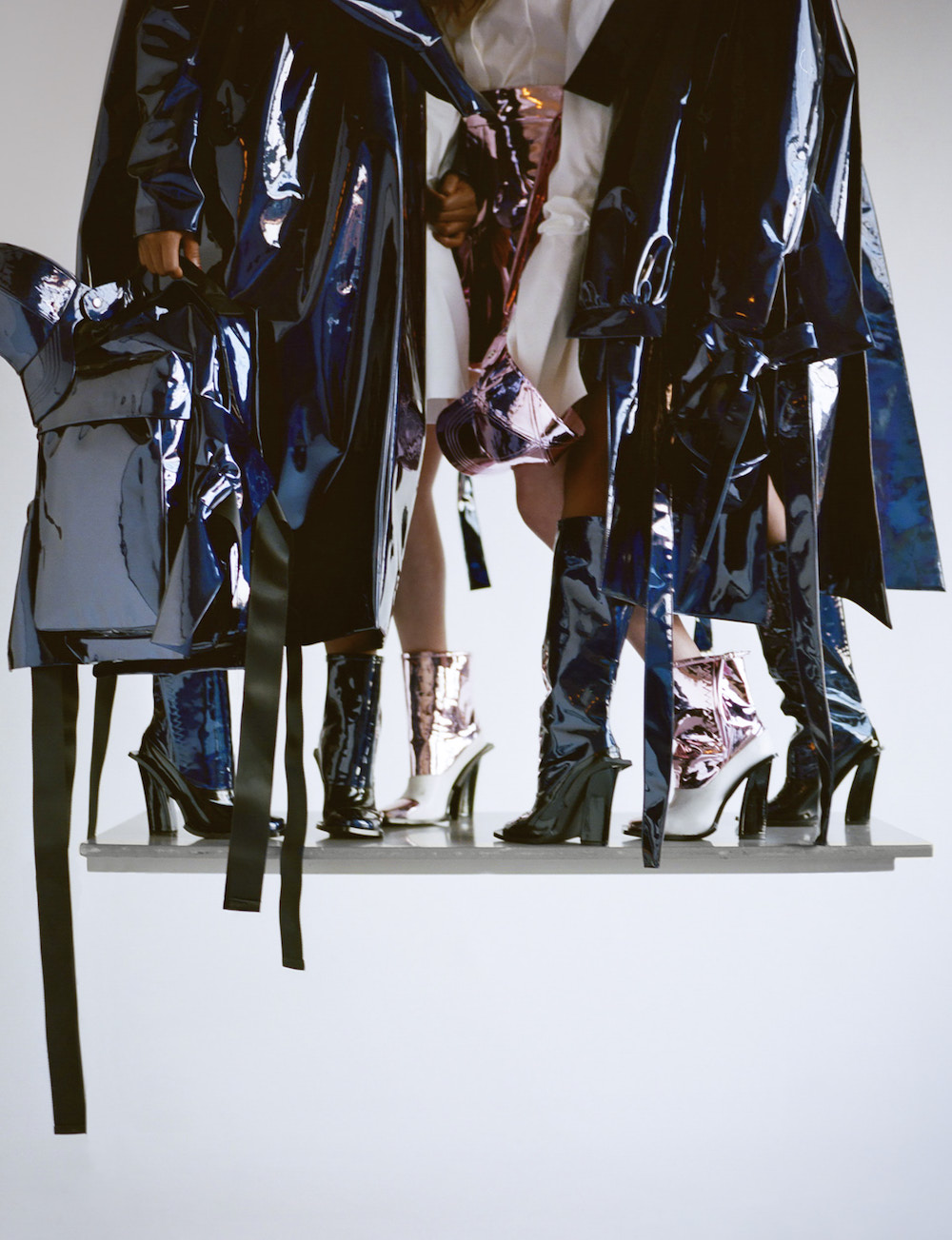 Hew Wang - MA Fashion Design Technology womenswear, 2017; Photography by Felix Cooper, styling by Anders Sølvsten Thomsen, hair Roxy Attard, make-up artist Celia Burton; models Yasmina Atta, Tschan Andrews, Anna Pye.